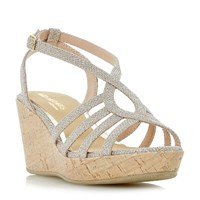 Head Over Heels Kimmi Strappy Wedge Sandals Gold