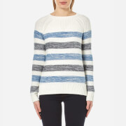 Barbour Women's Dock Knitted Jumper Blue Stripe White