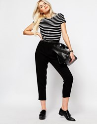 Monki Highwaisted Tailored Pants Black