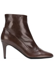 Michel Vivien Violet Ankle Boots Brown