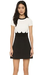 Red Valentino Short Sleeve Sweater Dress Black Ivory