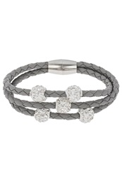 Sweet Deluxe Trice Bracelet Silver Crystal Light Grey Dark Gray