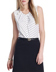 Jones New York Polka Dot Blouse White