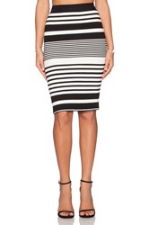 Trina Turk Adelisa Skirt Black And White
