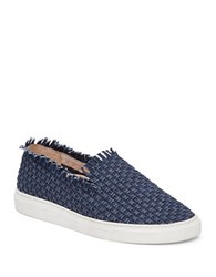 Vince Camuto Bimmy Woven Slip On Sneakers Navy Blue