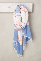 Anthropologie Aden Oversize Wrap Blue