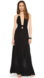 Free People Look Into The Sun Maxi Dress Black