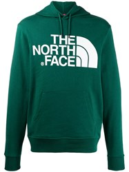 The North Face Logo Print Hoodie Green