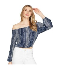 Lucy Love Let It Loose Top Sail Blue Clothing Navy