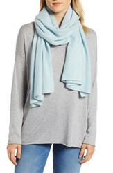 Halogen Solid Cashmere Scarf Blue Sterling