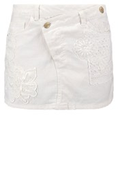 Desigual Mini Skirt Blanco White