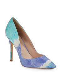 Charles By Charles David Pact Leather Stiletto Pumps Ocean Tye Dye
