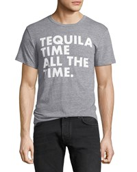 Chaser Tequila Time Crewneck Tee Gray
