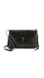 Madewell Fringe Cross Body Clutch True Black