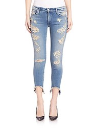 True Religion Halle Distressed Skinny Jeans With Raw Hem Nu Destroyed Gypset