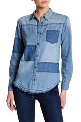 Joe's Jeans Kristina Button Up Shirt Blue