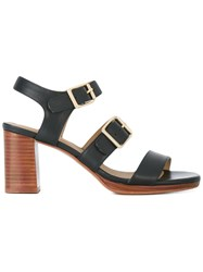 A.P.C. 'Betsy' Sandals Women Leather 41 Blue