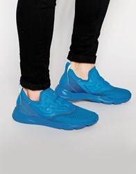 Reebok Furylite Slip On Woven Trainers In Blue V70819 Blue