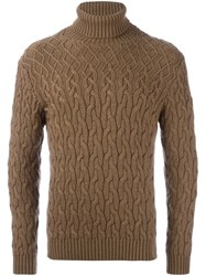 Etro Turtle Neck Jumper Brown