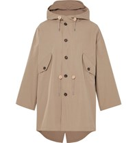 The Workers Club Hooded Cotton Packable Parka Beige