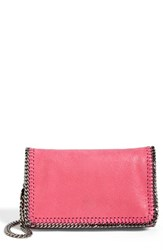 Stella Mccartney 'Falabella Shaggy Deer' Faux Leather Crossbody Bag Pink Hot Pink