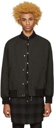 Robert Geller Black Massimo Bomber Jacket