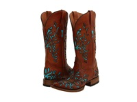 Stetson 12 021 8801 0616 Burnished Turquoise Cowboy Boots Brown