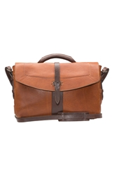 Will Leather Goods 'Brandon' Leather Messenger Bag Tan