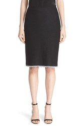 St. John Women's Collection Metallic Lattice Knit Skirt