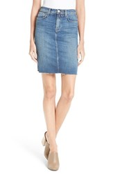 L'agence Women's Montecito High Rise Denim Pencil Skirt