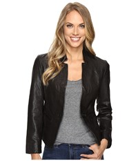 Lucky Brand Leather Blazer Black Women's Jacket Multi