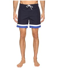 Lacoste Color Block Swim Shorts Cosmos White Steamer Men's Swimwear Black