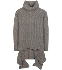 Balenciaga Wool Blend Turtleneck Sweater Grey
