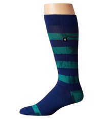 Richer Poorer Cartwright Athletic Navy Crew Cut Socks Shoes