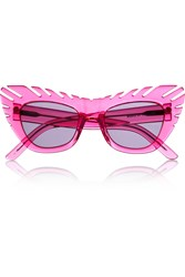 House Of Holland Combover Cat Eye Acetate Sunglasses Pink