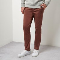 River Island Mens Dusty Red Slim Chino Trousers
