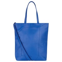 Jaeger Lusted Leather Tote Bag Bright Blue