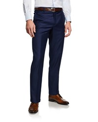 Santorelli 130S Wool Dress Pants Navy