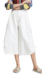 See By Chloe Cropped Cargo Pants Crystal White