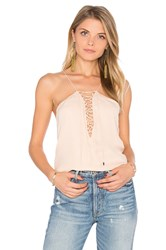 Haute Hippie Cross My Heart Cami Blush