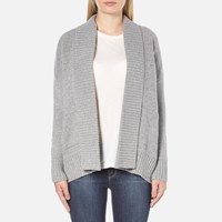 Barbour Heritage Women's Avalanche Oversized Cardigan Grey Marl