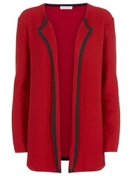 Windsmoor Open Front Textured Cardigan Red