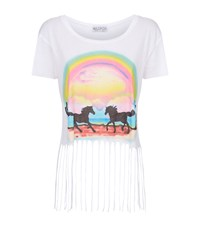 Wildfox Couture Wildfox Pony Dream Rider Festival Fringe T Shirt Female White