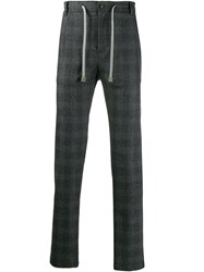Eleventy Checked Trousers Grey