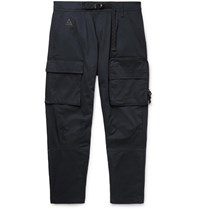 Nike Acg Nrg Tapered Belted Cotton Blend Twill Cargo Trousers Black