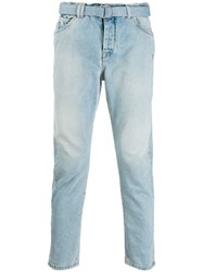 Off White Belted Skinny Jeans Blue