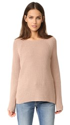 Vince Waffle Stitch Crew Pullover Pink Cantare