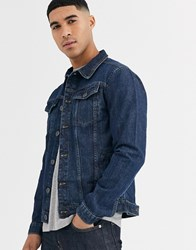 Soul Star Slim Fit Denim Jacket In Blue Wash