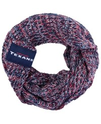 Forever Collectibles Houston Texans Peak Infinity Scarf Navy Red White