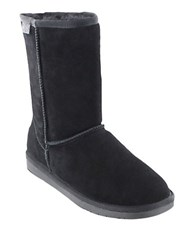 Minnetonka Olympia Sheepskin Ankle Boots Black